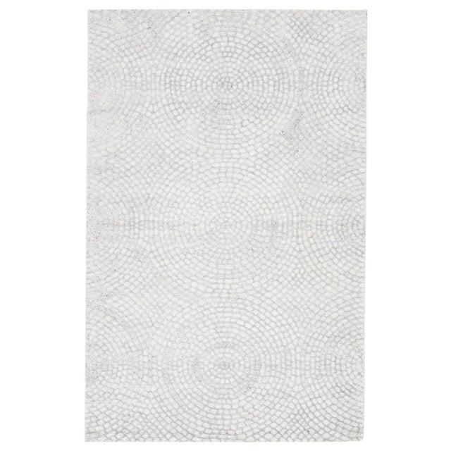 Pollack by Jaipur Living Impresario Handmade Medallion White/ Silver Area Rug - 8′ × 10′ For Sale