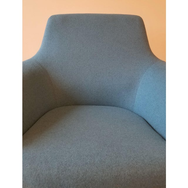 "Recently-Upholstered Coalesse ""Bob"" Swivel Lounge Chair by Steelcase For Sale - Image 9 of 11"