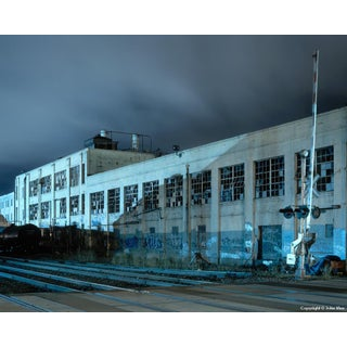 "Contemporary Night Photograph ""Warehouse"" by John Vias For Sale"