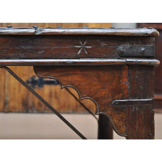 Indian Wood and Iron Table - Image 5 of 10
