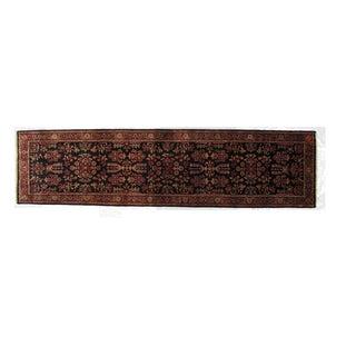 """Persian Sarouk Wool Runner Rug - 10'3"""" x 2'7"""" For Sale"""