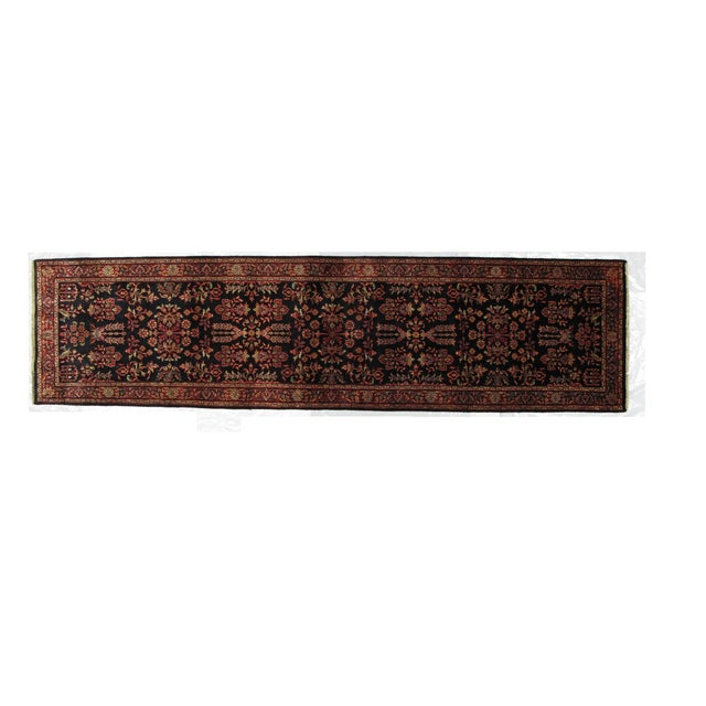 "Persian Sarouk Wool Runner Rug - 10'3"" x 2'7"" - Image 1 of 3"