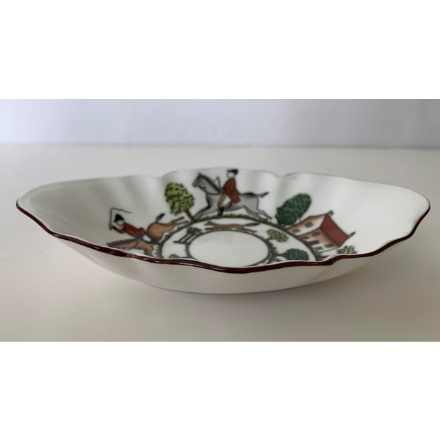 Crown Staffordshire Staffordshire Hunting Scene Bowl For Sale - Image 4 of 11