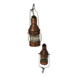 Meteorite Anchor/Running Lanterns - A Pair