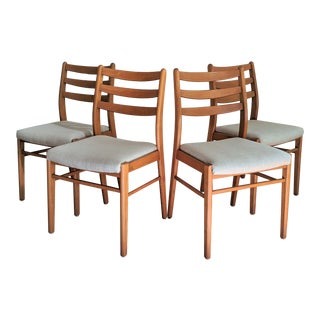Scandinavian Style Ladder Back Chairs - Set of 4 For Sale