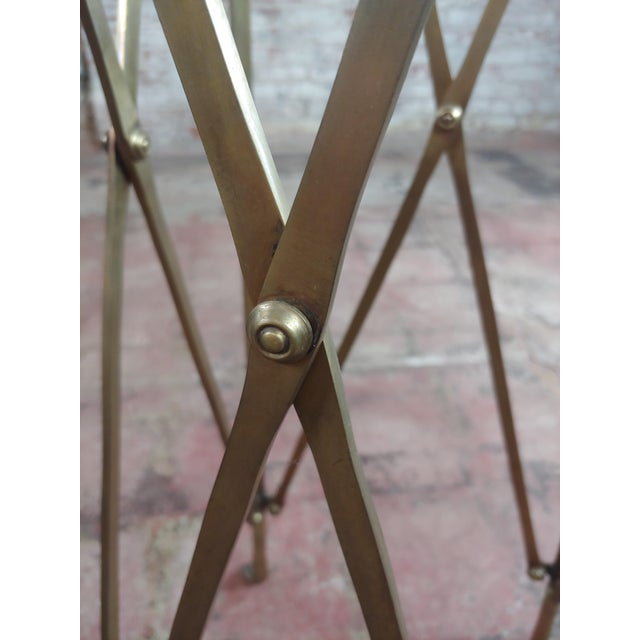 Campaign French Director Empire Campaign Bronze Tall Side Table For Sale - Image 3 of 8