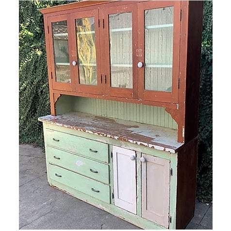 Antique Farmhouse Hutch For Sale - Image 4 of 8