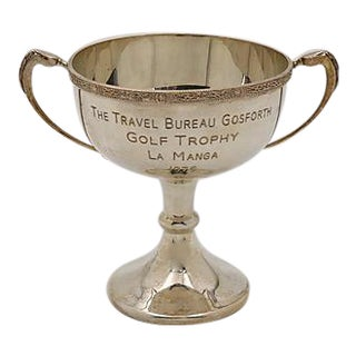 English Silver-Plate Golf Trophy
