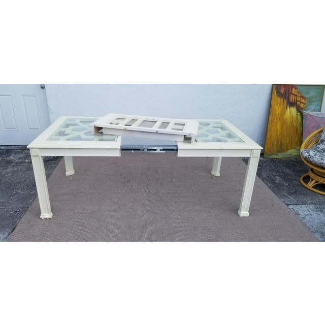 Asian 1960's Vintage Palm Beach Hollywood Regency Dining Table For Sale - Image 3 of 13