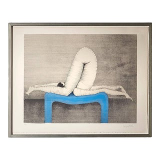 """Paul Wunderlich Color Lithograph, Titled """"Position A"""" For Sale"""