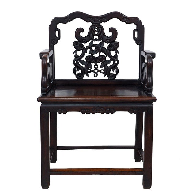Antique Chinese Carved Rosewood Chair For Sale In Los Angeles - Image 6 of 6 - Antique Chinese Carved Rosewood Chair Chairish