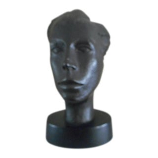 1940's Signed Head Sculpture