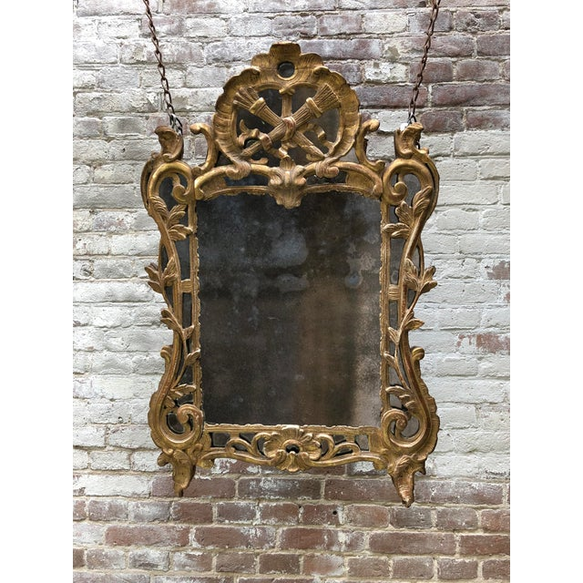 Louis XV , Ca 1750 , Carved Gilt Wood With Mirror Border Glasses For Sale - Image 10 of 11