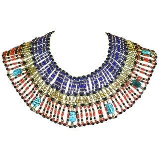 Cleopatra Style Eygptian Revival Bib For Sale