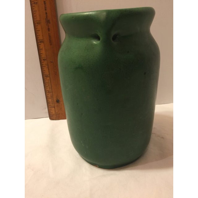 Mission Arts & Crafts Green Art Pottery Vase For Sale - Image 6 of 8