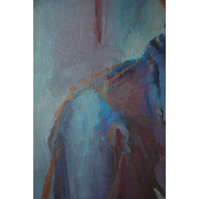 Canvas Portrait Painting, Circa 1960 For Sale - Image 7 of 8