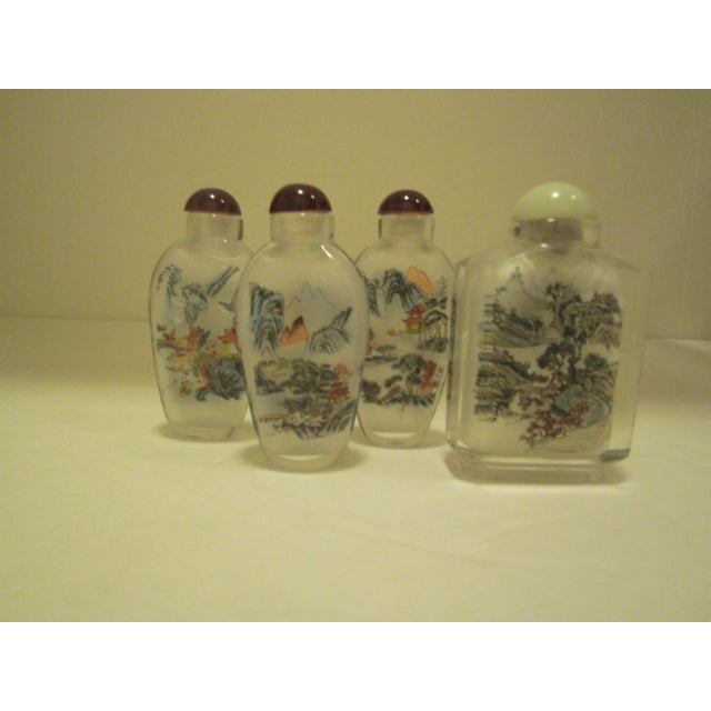 Peking Back Painted Glass Bottles - Set of 4 - Image 11 of 11