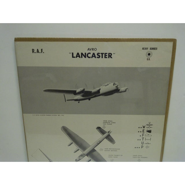 """American Vintage WWII Aircraft """"Lancaster"""" Recognition Poster For Sale - Image 3 of 4"""