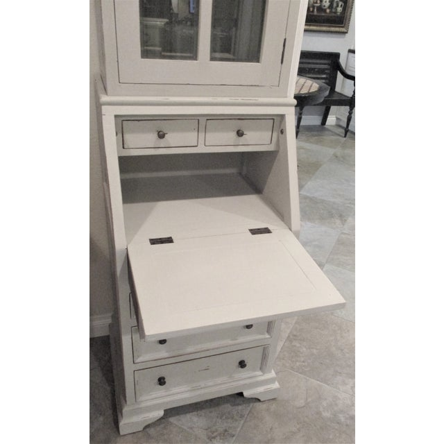 I love this supper sweet little secretary desk, it is perfect for so many spaces if your tight on space. The piece is made...