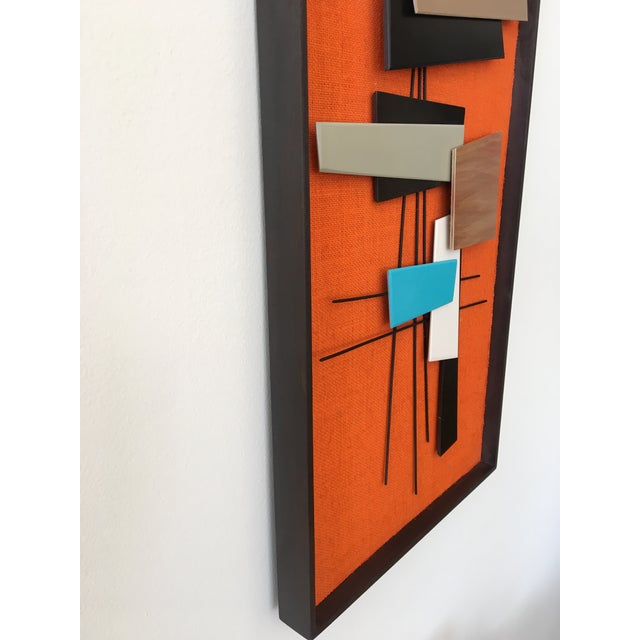Mid-Century Modern Abstract Wall Sculpture Collage - Image 3 of 4