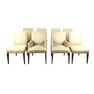 Contemporary Crate & Barrel Upholstered Chairs - Set of 8