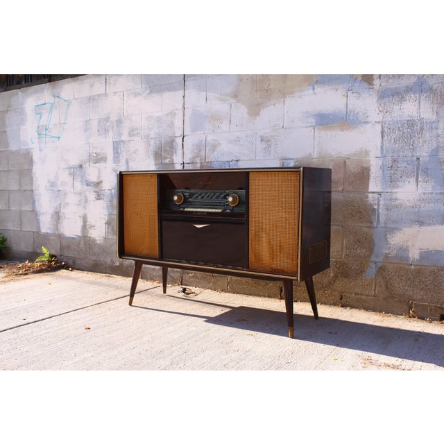 Mid Century German Emud Stereo Console For Sale - Image 5 of 11