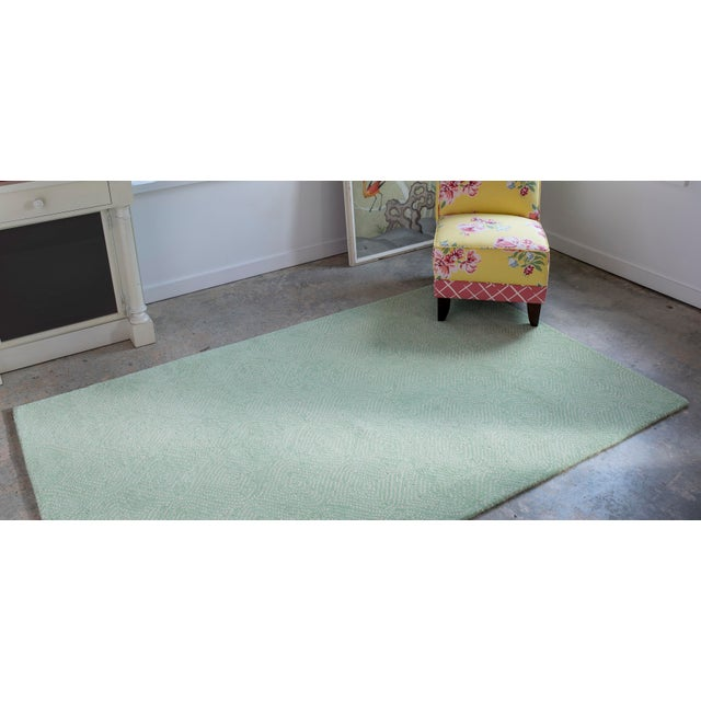 2010s Madcap Cottage Roman Holiday via Del Corso Green Area Rug 5' X 8' For Sale - Image 5 of 6