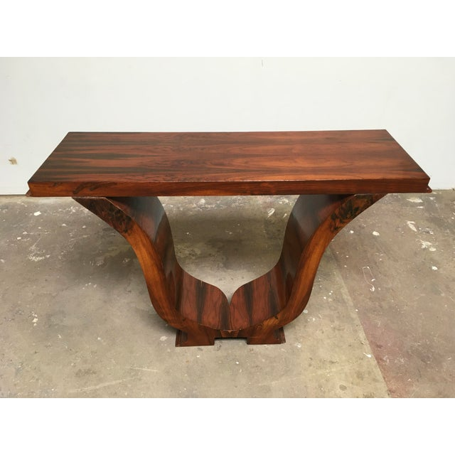 Wood Art Deco Console in Rosewood For Sale - Image 7 of 12