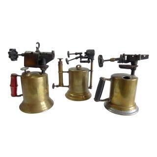 Antique Blow Torches - Set of 3