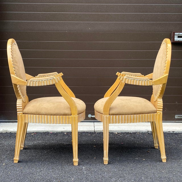 1980s John Hutton for Donghia Style Soleil Armchair - a Pair For Sale In Philadelphia - Image 6 of 13