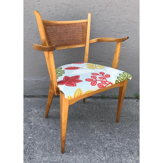 1950s Swedish Edmond Spence Birch and Caning Arm Chair For Sale In New York - Image 6 of 6