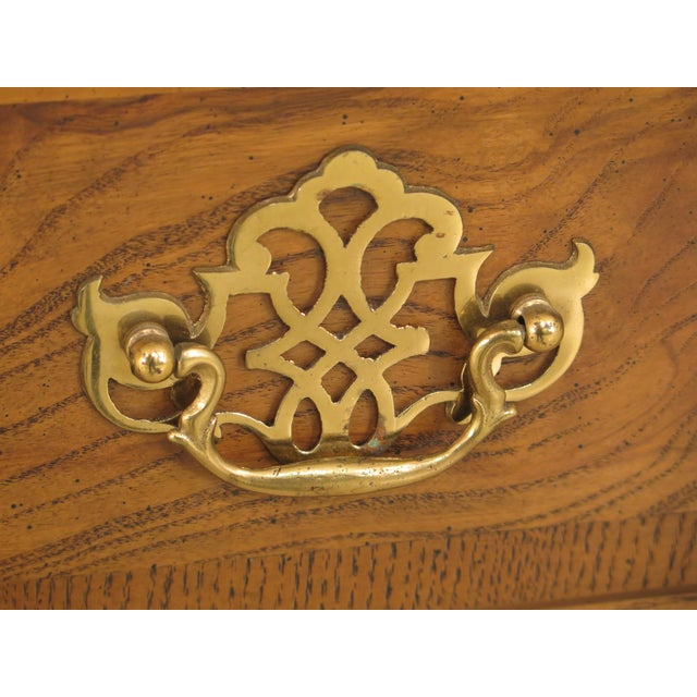 Baker English Style Oak & Walnut Sideboard For Sale - Image 10 of 12
