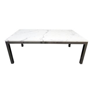 Custom Parsons Base & Marble Top Dining Table