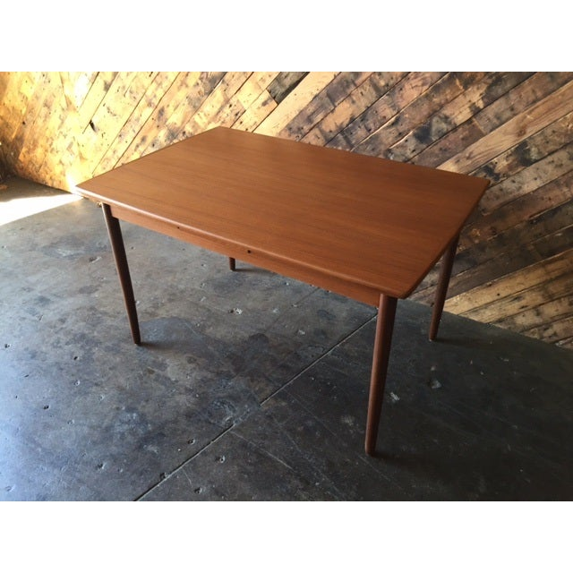 Mid-Century Danish Modern Refinished Dining Table - Image 6 of 8