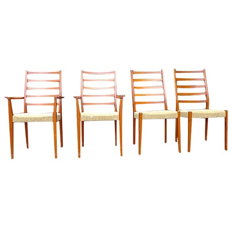 Mid Century Modern Dining Chair Set - Set of Four - Image 1 of 7