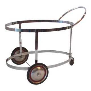 Moderne Chrome Drinks Cart in the Style of Donald Deskey For Sale