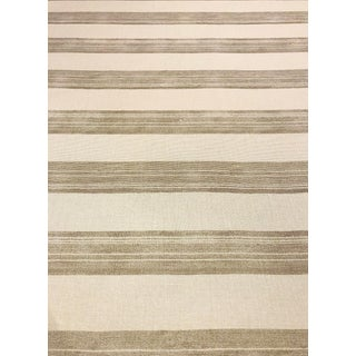 Kelly Wearstler for Lee Jofa Askew - Transitional Ivory / Taupe Striped Linen Multipurpose Fabric - 10.25 Yards For Sale