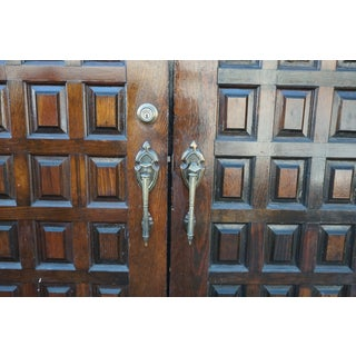 1950s Vintage Tudor Style Paneled Double Doors- A Pair Preview