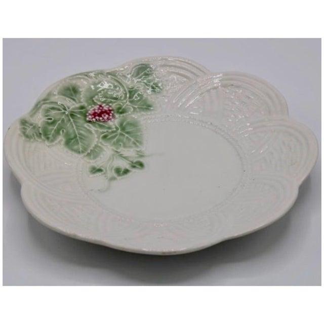 Italian Vintage Italian Ceramic Strawberry Plate For Sale - Image 3 of 7