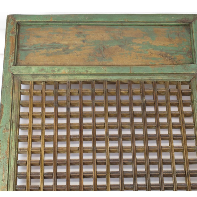 1900s Antique Chinese Lattice Panels- Set of 6 For Sale In Boston - Image 6 of 9
