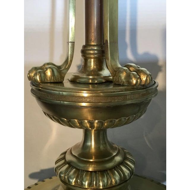 Vintage Bronze English Floor Lamp - Image 10 of 11