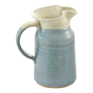 Blue Studio Art Vase For Sale