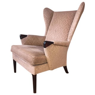 Vintage Signed Parker Knoll 757 Wing Chair, Beige