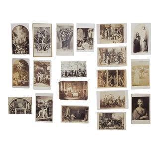 Antique Collection Grand Tour Artwork Photographs - Set of 19 For Sale