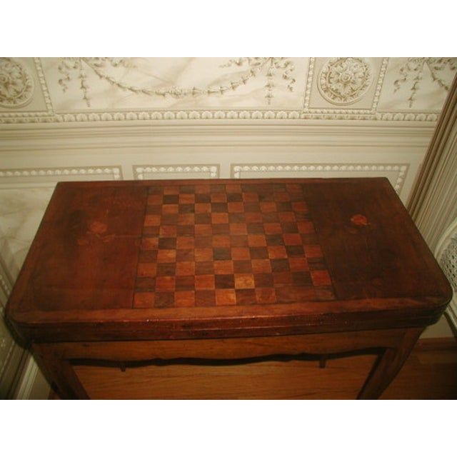 C.1850 French Game Table Inlaid Walnut Fruitwood - Image 3 of 10
