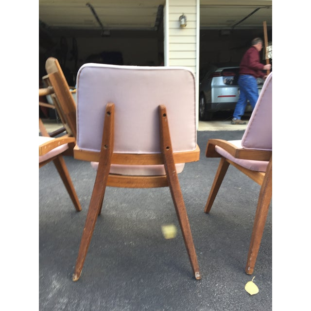 Textile John Keal by Brown Saltzman Dining Room Chairs - Set of 4 For Sale - Image 7 of 9