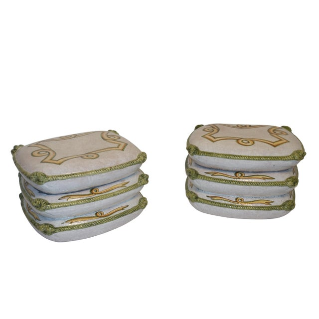 Vintage Neoclassical Ceramic Garden Stools - a Pair For Sale - Image 4 of 11