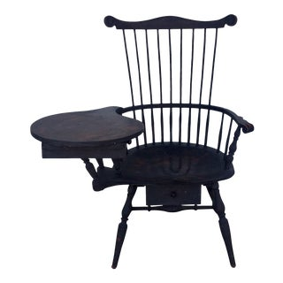 Windsor Writing Arm Chair For Sale
