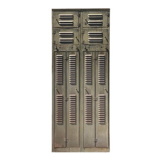 Early 20th Century Panel of Four Lockers For Sale