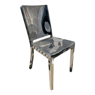 Polished Aluminum Emeco Philippe Starck Hudson Navy Chair For Sale